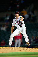 Rochester Red Wings pitcher Andrew Lee (49) during a game against the Worcester Red Sox on September 3, 2021 at Frontier Field in Rochester, New York.  (Mike Janes/Four Seam Images)