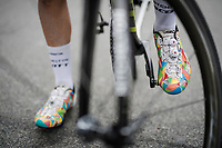 Esteban Chaves' (COL/Mitchelton-Scott) colourful shoes<br /> <br /> Stage 8: Nice to Nice (110km)<br /> 77th Paris - Nice 2019 (2.UWT)<br /> <br /> ©kramon