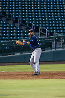 AZL Brewers third baseman Julian Jarrard (39) on defense during a game against the AZL Cubs on August 1, 2017 at Sloan Park in Mesa, Arizona. Brewers defeated the Cubs 5-4. (Zachary Lucy/Four Seam Images)