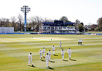 Kent players enter the field of play during Kent CCC vs Lancashire CCC, LV Insurance County Championship Group 3 Cricket at The Spitfire Ground on 22nd April 2021