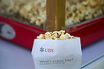 Free popcorn offered by UBS at the Spectator village during the 58th UBS Hong Kong Golf Open as part of the European Tour on 11 December 2016, at the Hong Kong Golf Club, Fanling, Hong Kong, China. Photo by Vivek Prakash / Power Sport Images