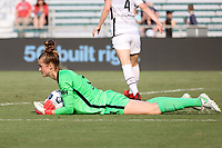 CARY, NC - SEPTEMBER 12: Bella Bixby #31 of the Portland Thorns FC traps the ball on the field during a game between Portland Thorns FC and North Carolina Courage at Sahlen's Stadium at WakeMed Soccer Park on September 12, 2021 in Cary, North Carolina.