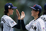 #19 Himeno Mayu of Japan (R) during the BFA Women's Baseball Asian Cup match between Japan and Hong Kong at Sai Tso Wan Recreation Ground on September 5, 2017 in Hong Kong. Photo by Marcio Rodrigo Machado / Power Sport Images