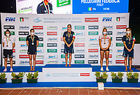 ( L to R, silver, gold, bronze), CAPONI Linda, DUMONT Valentine BEL; PELLEGRINI Federica; EGOROVA Anna RUS, PANZIERA Margherita<br /> 200 Freestyle Women podium<br /> Roma 13/08/2020 Foro Italico <br /> FIN 57 LVII Trofeo Sette Colli - Campionati Assoluti 2020 Internazionali d'Italia<br /> Photo Giorgio Scala/DBM/Insidefoto