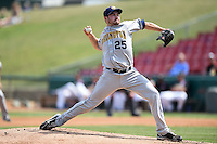 Burlington Bees pitcher Alex Blackford (25) delivers a pitch during a game against the Kane County Cougars on August 20, 2014 at Third Bank Ballpark in Geneva, Illinois.  Kane County defeated Burlington 7-3.  (Mike Janes/Four Seam Images)