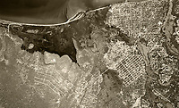historical aerial photograph South Lake Tahoe, California, 1953