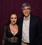 """Jennifer Simard and Mo Rocca backstage after """"Stigma"""" on September 9, 2018 at the Green Room 42 in New York City."""