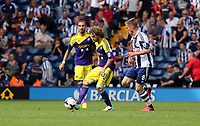 Pictured: (L-R) Jose Canas, Markus Rosenberg.<br /> Sunday 01 September 2013<br /> Re: Barclay's Premier League, West Bromwich Albion v Swansea City FC at The Hawthorns, Birmingham, UK.