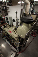 Engine on Fishing Boat, Kodiak Island, Alaska, US