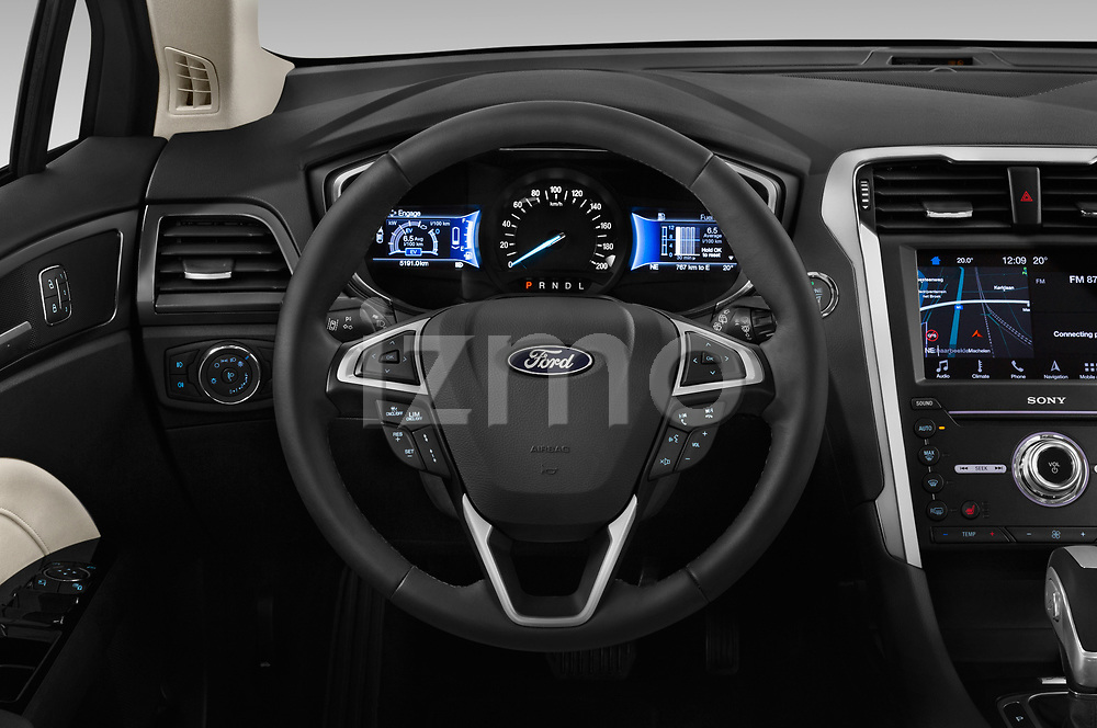 Car pictures of steering wheel view of a 2019 Ford Mondeo Clipper Hybrid 5 Door Wagon