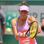Vitalia Diatchenko (RUS) loses to Maria Sharapova (RUS) 6-3, 6-1 at  Roland Garros being played at Stade Roland Garros in Paris, France on May 27, 2015
