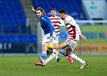 St Johnstone v Hamilton Accies…30.12.20   McDiarmid Park     SPFL<br />Stevie May and Aaron Martin<br />Picture by Graeme Hart.<br />Copyright Perthshire Picture Agency<br />Tel: 01738 623350  Mobile: 07990 594431