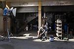"Shooting of the series ""Mesh Ana"" (""Not for me""), Lebanon, Mars 2016 (M&M production). In this series, the young mechanic is in love with the heroine: but she is from the Lebanese bourgeoisie, and refuses his love because of his social rank.<br /> <br /> Tournage de la série ""Mesh Ana"" (""Sans moi""), Liban, Mars 2016 (M&M production). Dans la série, le jeune mécanicien est épris de l'héroïne. Celle-ci, issue de la bourgeoisie libanaise, refusera son amour en raison de son rang social."