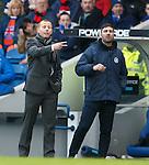 Stranraer manager Stephen Aitken urges his side forwards