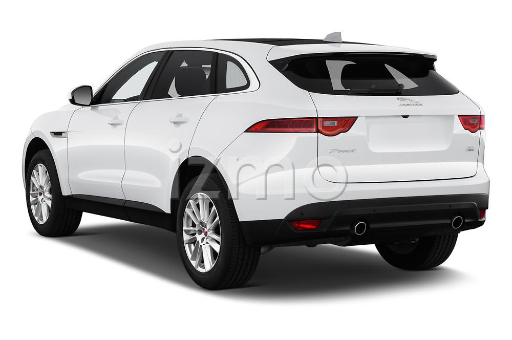 Car pictures of rear three quarter view of 2020 Jaguar F-Pace Prestige 5 Door SUV Angular Rear