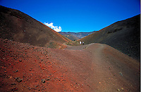 Hikers at Haleakala National park, Maui