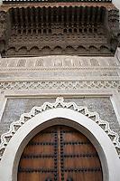 Afrique/Afrique du Nord/Maroc/Fèz: Dans la médina de Fèz-El-Bali entrée du Musée Nejjarin des Arts et Métiers du Bois sur la place en-Nejjarin