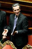 VITTORIO GRILLI .Roma 22/12/2011 Senato. Voto di Fiducia sulla Manovra Economica.Votation at Senate about austerity plan. .Photo Samantha Zucchi Insidefoto