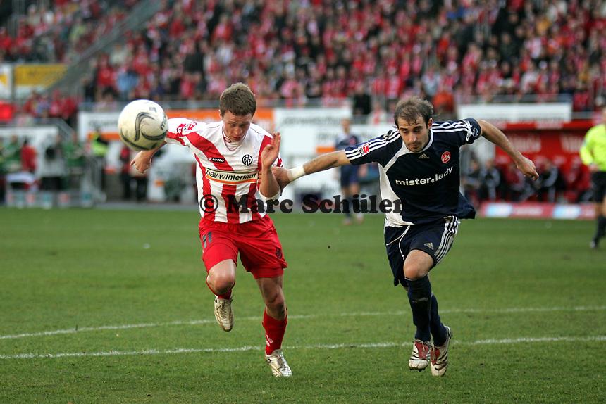 Petr Ruman (FSV Mainz 05) setzt sich durch