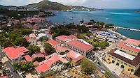 Aerial view of Charlotte Amalie<br /> St. Thomas<br /> US Virgin Islands