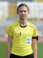 20180302 - LARNACA , CYPRUS : Ukrainian assistant referee Oleksandra Vdovina pictured during a women's soccer game between Italy and Wales , on friday 2 March 2018 at GSZ Stadium in Larnaca , Cyprus . This is the second game in group A for Italy and Wales during the Cyprus Womens Cup , a prestigious women soccer tournament as a preparation on the World Cup 2019 qualification duels. PHOTO SPORTPIX.BE | DAVID CATRY
