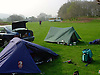 Camping,camping in North Wales,camping by the river, Ardudwy area of Gwynedd, Wales,campsite,preparing for days walking.<br /> <br /> Stock Photo by Paddy Bergin