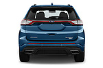 Straight rear view of 2018 Ford Edge Sport 5 Door SUV stock images