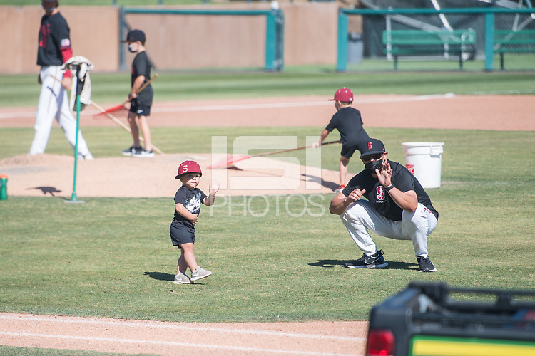 STANFORD, CA - MAY 29: Thomas Eager after a game between Oregon State University and Stanford Baseball at Sunken Diamond on May 29, 2021 in Stanford, California.