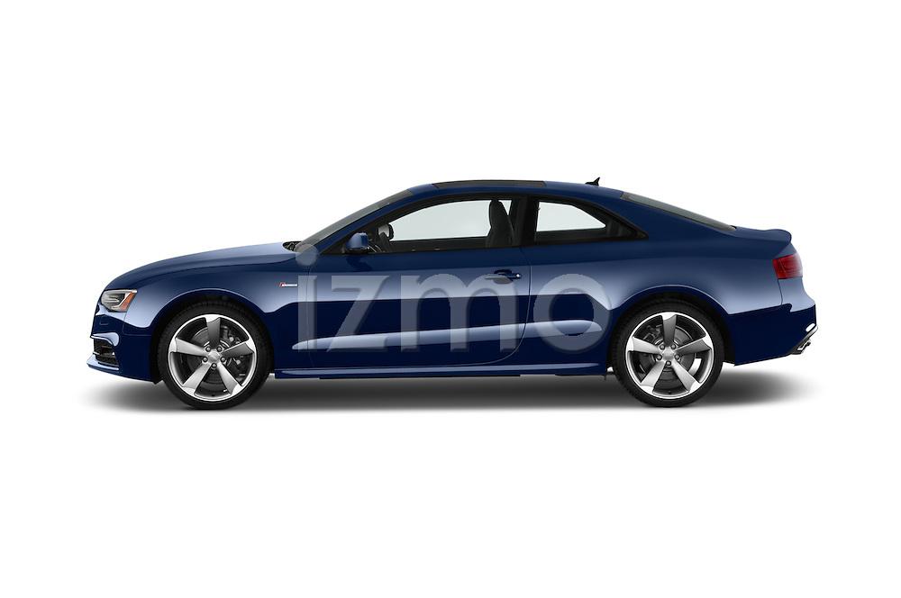 Car Driver side profile view of a 2015 Audi S5 4.2 quattro Tiptronic Premium Plus Coupe 2 Door Coupe Side View