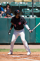 Visalia Rawhide right fielder Ramon Hernandez (16) at bat during a California League game against the Stockton Ports at Visalia Recreation Ballpark on May 9, 2018 in Visalia, California. Stockton defeated Visalia 4-2. (Zachary Lucy/Four Seam Images)