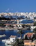 Spanien, Balearen, Menorca, Mahon: Stadt und Hafen | Spain, Balearic Islands, Menorca, Mahon: Town and Harbour