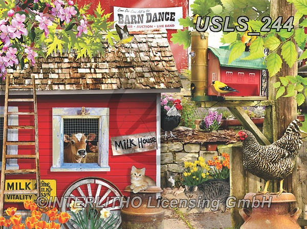 Lori, LANDSCAPES, LANDSCHAFTEN, PAISAJES, paintings+++++Milk House_Spring_6_12 in_72,USLS244,#l#, EVERYDAY ,puzzle,puzzles