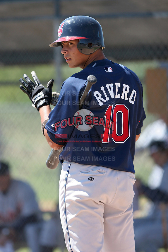Cleveland Indians minor leaguer Carlos Rivero during Spring Training at the Chain of Lakes Complex on March 17, 2007 in Winter Haven, Florida.  (Mike Janes/Four Seam Images)