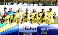 VALLEDUPAR-COLOMBIA, 18-12-2020: Valledupar F. C. y Itagüi Leones F. C., durante partido de la fecha 6 en los Cuadrangulares Semifinales por el Torneo BetPlay DIMAYOR 2020 en el estadio Armando Maestre Pavajeau de la ciudad de Valledupar. / Valledupar F. C. and Itagüi Leones F. C., during a match of the 6th date in the Quadrangular Semifinals for  the BetPlay DIMAYOR 2020 Tournament at the Armando Maestre Pavajeau de stadium in Valledupar city. / Photo: VizzorImage / Adamis Guerra / Cont.