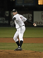April 23, 2004:  Jeremy Johnson of the Erie Seawolves, Eastern League (AA) affiliate of the Detroit Tigers, during a game at Jerry Uht Park in Erie, PA.  Photo by:  Mike Janes/Four Seam Images