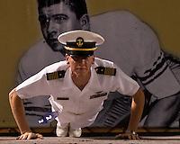 Navy Midshipman doing pushups, September 19, 2009