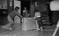 Playing in the main hall after supper, Summerhill school, Leiston, Suffolk, UK. 1968.