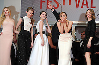 Claire Julien ; Taissa Fariga ; Katie Chang ; Israel Broussard ; Emma Watson ; Sofia Coppola .Cannes 16/5/2013.Festival del Cinema .Foto Panoramic / Insidefoto .ITALY ONLY