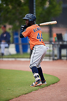 Houston Astros Marcos Almonte (44) during a Minor League Spring Training Intrasquad game on March 28, 2018 at FITTEAM Ballpark of the Palm Beaches in West Palm Beach, Florida.  (Mike Janes/Four Seam Images)