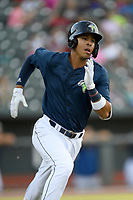 Third baseman Mark Vientos (13) of the Columbia Fireflies in a game against the Lexington Legends on Friday, May 3, 2019, at Segra Park in Columbia, South Carolina. Lexington won, 5-2. (Tom Priddy/Four Seam Images)