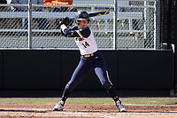 DURHAM, NC - FEBRUARY 29: Payton Tidd #14 of the University of Notre Dame waits for a pitch during a game between Notre Dame and Duke at Duke Softball Stadium on February 29, 2020 in Durham, North Carolina.