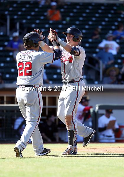 Austin Riley - Peoria Javelinas - 2017 Arizona Fall League (Bill Mitchell)