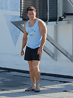 SMG_FLXX_Mark Wahlberg_Michael Bay_Roof_040512_04.JPG<br /> <br /> MIAMI , FL - APRIL 05:  Mark Wahlberg_Michael Bay on the set of Pain and Gain which is directed by Michael Bay. Pain and Gain is about a  pair of bodybuilders in Florida get caught up in an extortion ring and a kidnapping scheme that goes terribly wrong. on April 5, 2012 in Miami Beach, Florida. (Photo By Storms Media Group)     <br /> <br /> People:  Mark Wahlberg_Michael Bay<br /> <br /> Transmission Ref:  FLXX<br /> <br /> Must call if interested<br /> Michael Storms<br /> Storms Media Group Inc.<br /> 305-632-3400 - Cell<br /> 305-513-5783 - Fax<br /> MikeStorm@aol.com