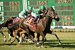 7-4-10: Maram, Jose Lezcano up, wins the Miss Liberty Stakes presented by Fasig-Tipton.