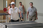 Shirley Ling and Wayne Lenhares play ping pong at the Carson City Senior Citizen Center in Carson City, Nev., on Wednesday, Aug. 22, 2012..Photo by Cathleen Allison