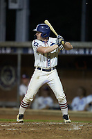 Luke Spiva (8) (Catawba) of the High Point-Thomasville HiToms at bat against the Wilson Tobs at Finch Field on July 17, 2020 in Thomasville, NC. The Tobs defeated the HiToms 2-1. (Brian Westerholt/Four Seam Images)