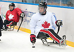 Sochi, RUSSIA - Mar 2 2014 -  Dominic Larocque practices before the 2014 Paralympics in Sochi, Russia.  (Photo: Matthew Murnaghan/Canadian Paralympic Committee)