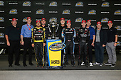 NASCAR Camping World Truck Series<br /> TheHouse.com 225<br /> Chicagoland Speedway, Joliet, IL USA<br /> Friday 15 September 2017<br /> Matt Crafton, Black Label Bacon/Menards Toyota Tundra, Christopher Bell, SiriusXm Toyota Tundra, and Ben Rhodes, Safelite Auto Glass Toyota Tundra with Toyota Executives<br /> World Copyright: Barry Cantrell<br /> LAT Images
