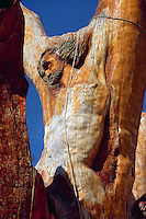 Christ figure carved in a Cedar Tree, The Cedars, Lebanon