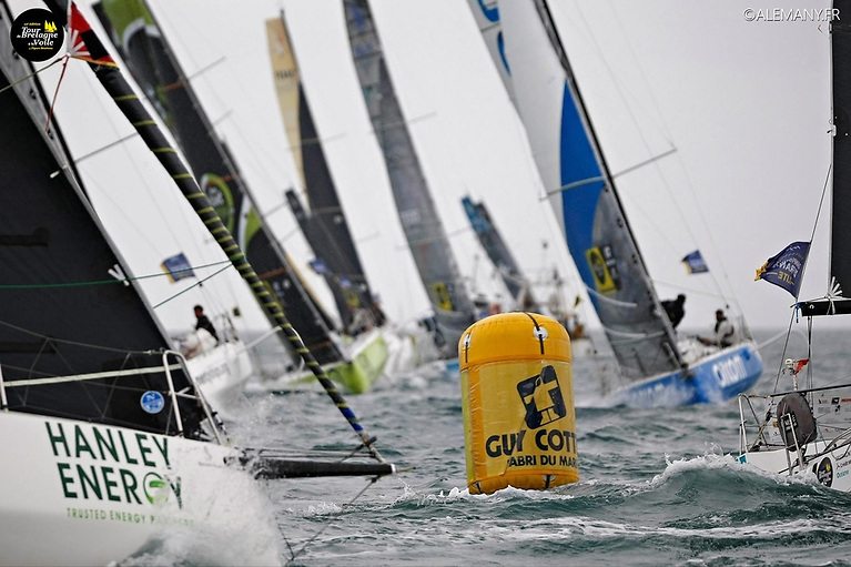 Rumball and Lee competed in the gruelling Tour De Bretagne a La Voile